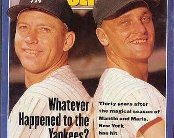 """Sports Illustrated Magazine May 27, 1991 Mickey Mantle & Roger Maris """"What Happened To The Yankees"""" """"Nice Condition"""""""