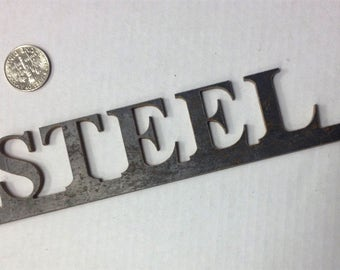 Personalized Customized Steel Lettering