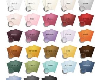 Metallic Cardstock Packs, DIY Wedding, Shimmer Cardstock, Scrapbook Paper, Pearlescent Paper, Paper Goods - Precut Sizes - 4x6, 5x7, 8.5x11