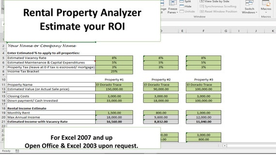 Investment Property Analyzer Rental Property Calculator