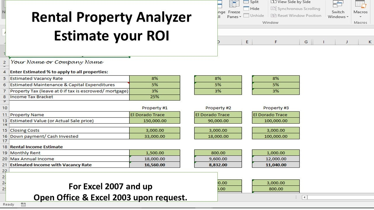 Investment Property Analyzer, Rental Property Calculator ...