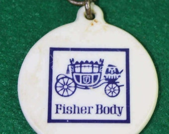 Vintage Fisher Body Plastic tag  - FREE Shipping