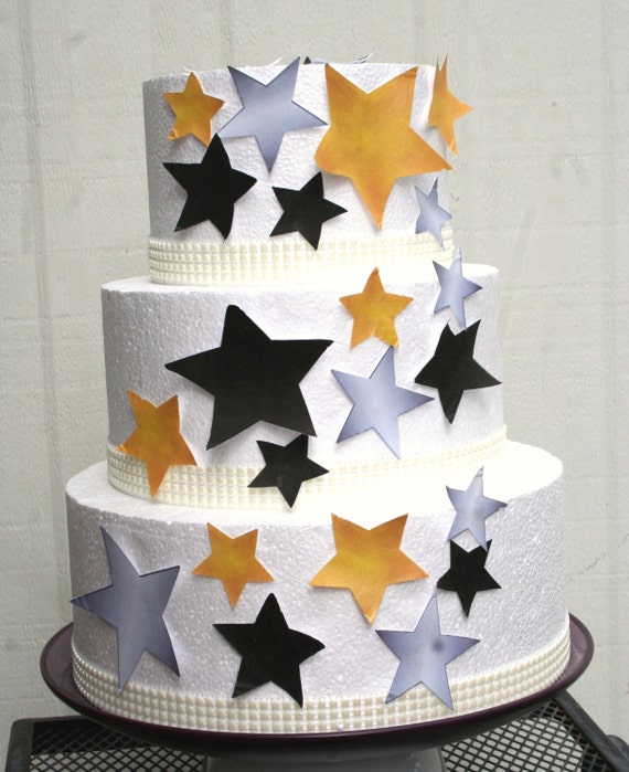 Edible Cake Decorations Stars : Edible Stars Cake Decorations New Years Eve Cake Decorations