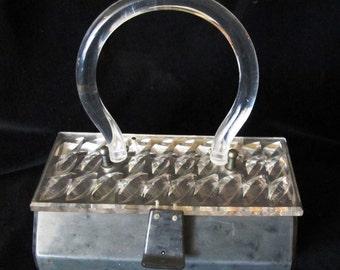 Original 1950s Lucite purse, Gilli New York