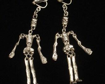 Human Skeleton Earrings Halloween