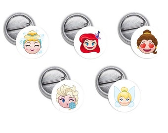"Princess Emoji Mini 1"" inch Pinback Button OR Magnet"