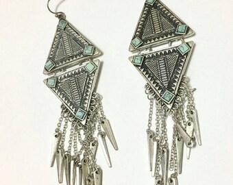 Vintage Boho Earrings, Boho Style Earrings, Boho Chic Earrings, Tribal Earrings, Gypsy Soul Earrings, Bohemian Earrings,Chandelier Earrings