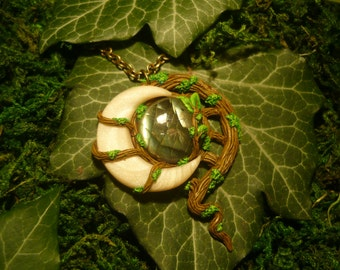 Moonlight Forest - handcrafted Pendant with Labradorite