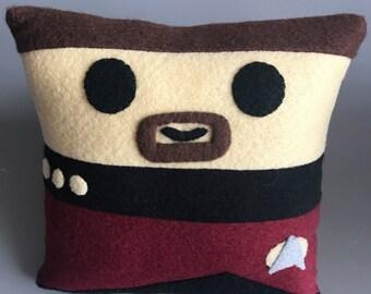 Star Trek Commander William Riker Mini Felt Cushion