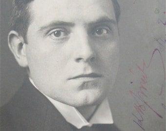 Original 1930's Czechoslovakian Composer Karel Boleslav Jirak Signed Real Photo Postcard - Free Shipping