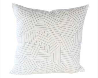 Miles Redd Deconstructed Stripe Cobalt pillow cover - Made to Order - Choose Your Size