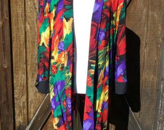 Vintage 80s Oversized Colorful Blazer / Size Medium