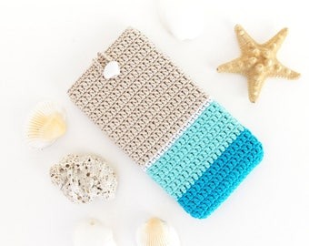 Beach Samsung S7 Edge sleeve, iPhone 7+ pouch, Ombre LG G6 cover, Turquoise Samsung S8+ cozy, Pixel XL pouch, Nokia 6 sock, Kobo ebook case