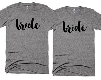 Wedding Tshirts - Bride t-shirt - Gay Wedding Photo shoot Props - Cliche Zero