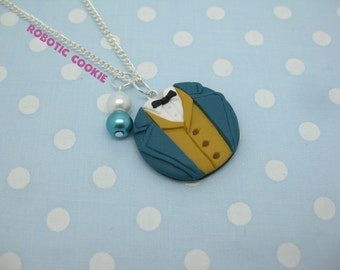 Newt Scamander inspired necklace polymer clay pendant