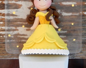 Princess clay polymer, led night light, beauty and the beast .decoration nice children and babies (beauty and the beast) clay