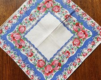 Vintage Tulip Handkerchief #66