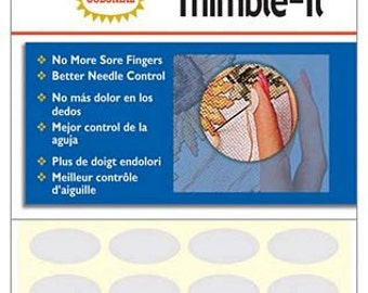 Thimble Pads, Finger Thimble, Finger Pad - Thimble It, Colonial Needle Co - 64 Ovals per pack - English Paper Piecing