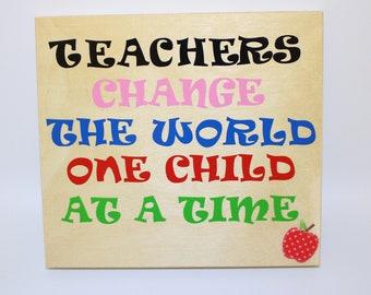 Teacher Wall Decor, Teacher Wall Art, Teacher Sign, Teacher Appreciation, Teacher Gift, School, Elementary School, Preschool, Graduation