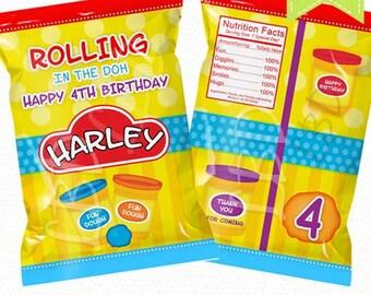 Fun Dough Treat Bag Printable , Favor Bags, Candy Bags, Chip Bags - Style 90 - YOU PRINT