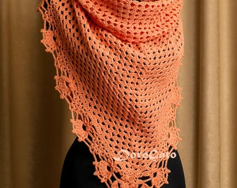 Triangle crochet shawl, Lace crochet shawl, Crochet shawl, Handmade shawl, Trianglе shawl, crochet stole, crochet wrap shawl