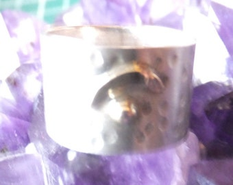 Gorgeous Egyptian Sterling Silver and Gold Plate Ring...... size 6 only