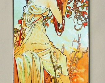 Alphonse Mucha - Summer II, Stained glass