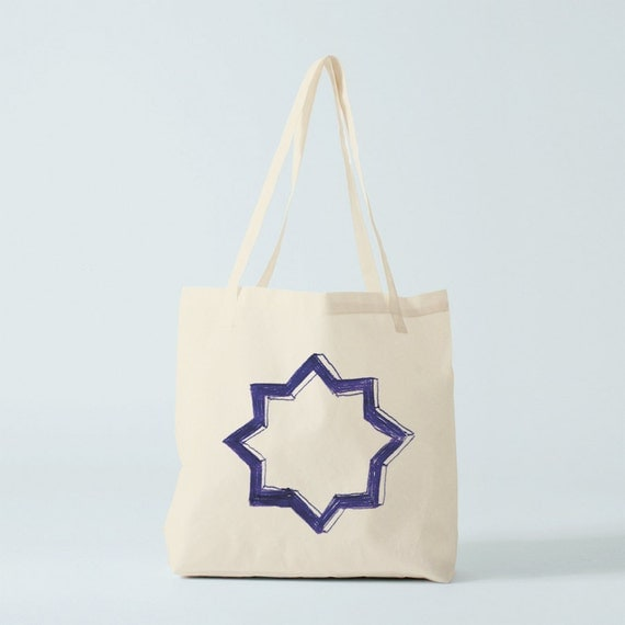 Tote Bag, Star tote, graphic tote, groceries bag, cotton bag, canvas bag, novelty gift, star, gift birthday, gift coworker, graphic.