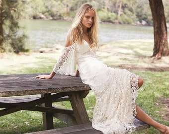 Bohemian Wedding Dress Petunia Gown