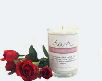 Unique Candle Scents, Spring Candle, Honeysuckle Rose Candle, Candle Lover Gift, Floral Scent, Friend Candle, Personalized Candle