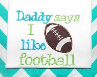 Football Embroidery Design  5X7  -INSTANT DOWNLOAD-