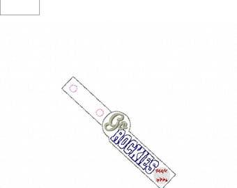 Go Rockies  - Baseball - Key Fob In The Hoop - DIGITAL Embroidery DESIGN