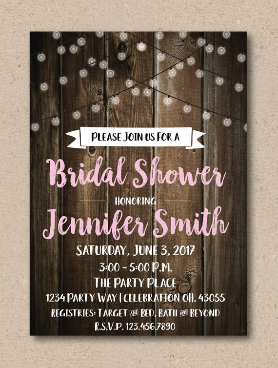 Country Bridal Shower Invitation