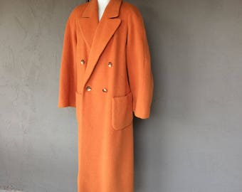 Vintage Orange Mohair Ladies Coat