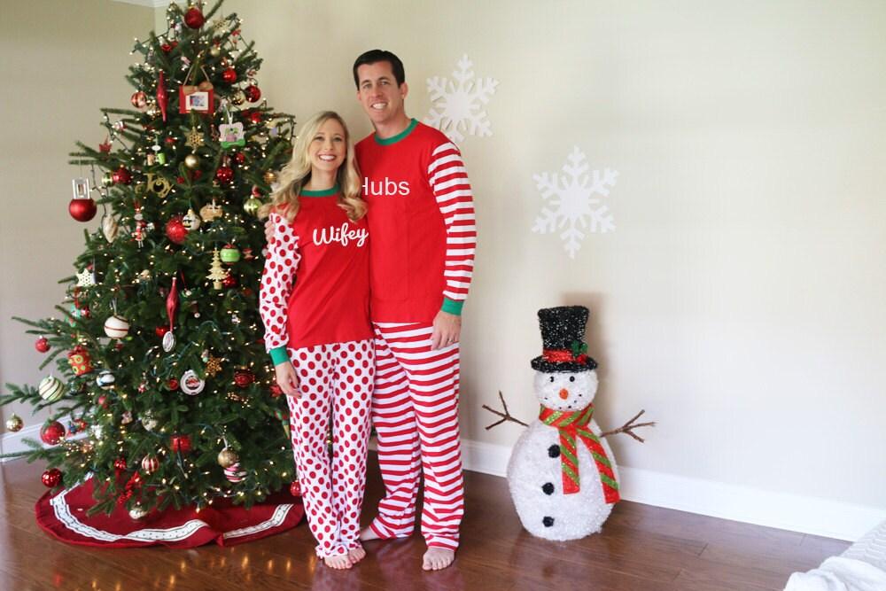 Adult Christmas Pajamas Monogrammed Christmas Pajamas Adult