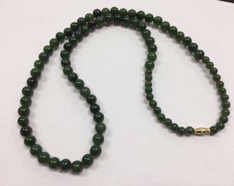 """Vintage Jade Graduated Bead 26"""" Necklace"""