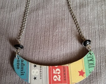 """Bib """"That's the Ticket"""" Necklace"""
