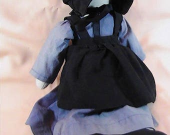 Vintage Traditional Amish Doll, Amish Doll, Faceless Amish Doll, Traditionally Dressed Amish Doll, Cloth Doll