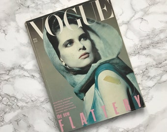 Vintage April 1984 VOGUE Magazine / The New Flattery Issue / British UK Edition