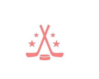 """Hockey Cookie Stencil, Hockey Stencil, Hockey Cake Stencil, Hockey Puck Stencil, Hockey Themed Stencil, Sports Cookie Stencil, 5.5"""" x 5.5"""""""