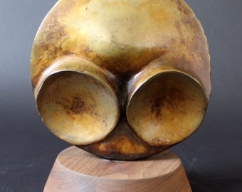 Mid Century Modern Metal Alien Abstract Sculpture by David Barr