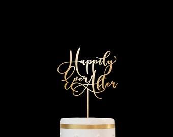 Customized Wedding Cake Topper,Personalized Cake Topper for Wedding,Custom Personalized Wedding Cake Topper Happily Ever After Cake Topper 5