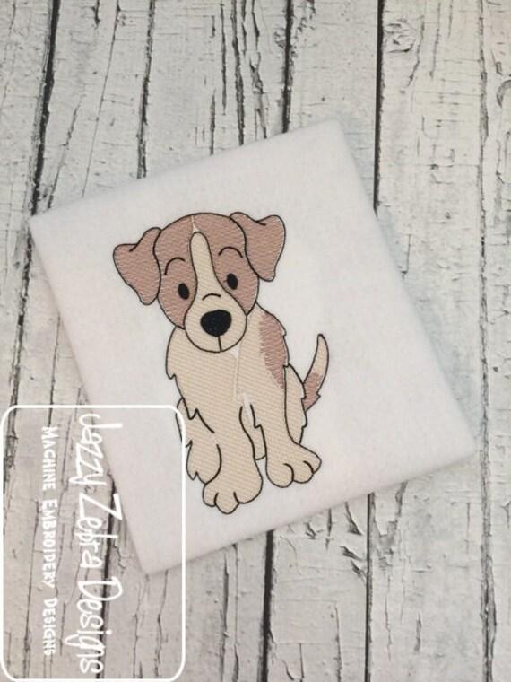 Terrier sketch embroidery design - dog sketch embroidery design - dog embroidery design - Terrier embroidery design - puppy embroidery
