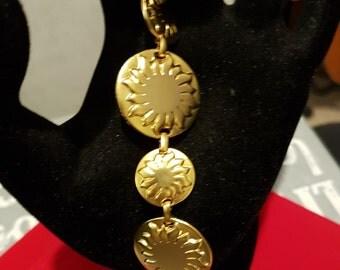 Souliado gold plate bracelet, designer bracelet, French bracelet, gold bangle, vintage bracelet, French gold bracelet, vintage bracelet