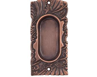 Roanoke Pocket Door Pulls In Antique Copper ***Closeout Special***