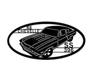 1968 Chevelle Wall Art Metal Art  Home Decor  Car Art  Automobile Art Classic Auto SS 396 car collectors  , Makes a GREAT gift!