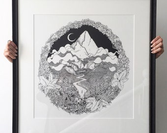 Mountain Path 2. 'Wild Thyme & Never Ending Pines'. Large Archival Print/Poster