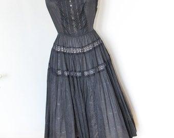 50s Vintage Black Dress