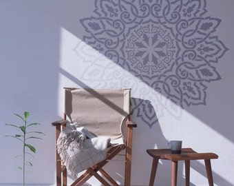 Arabic Mandala wall stencil -  Decorative wall stencil for DIY projects - Reusable stencils - DIY home decor - Large Stencil