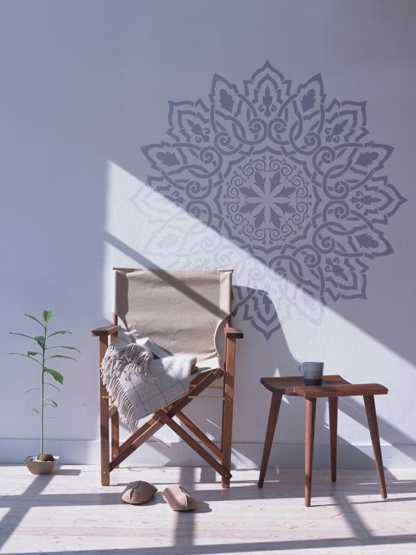 Arabic Mandala wall stencil - Decorative wall stencil for DIY ...
